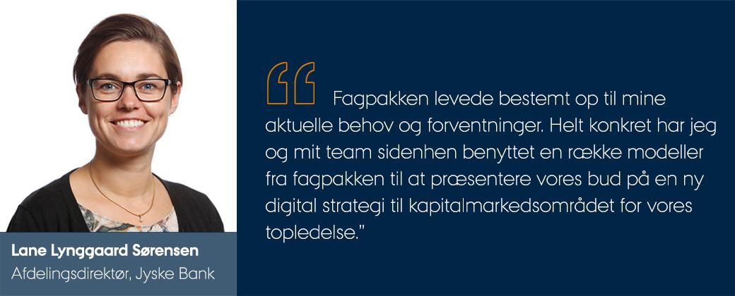 Lane Lynggaard Sørensen udtaler sig om fagpakken